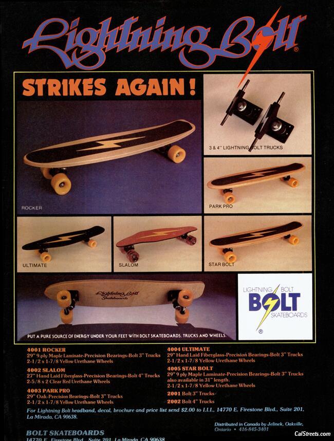 Skateboard Lightning Bolt Lightning Bolt Strikes Again