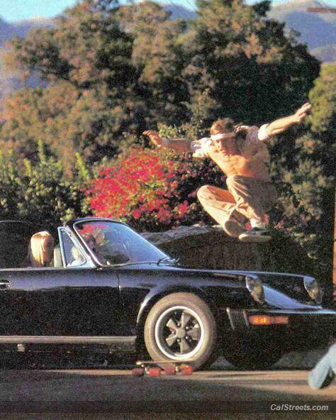 Sims Tom Jumps Porche Vintage skateboard Calstreets