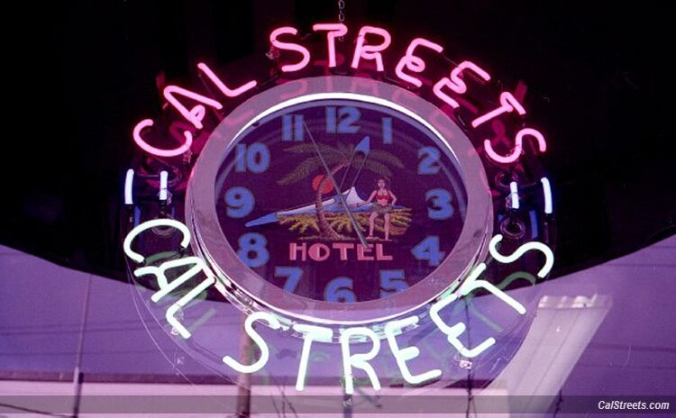 CalStreets 92 Lonsdale Neon Clock
