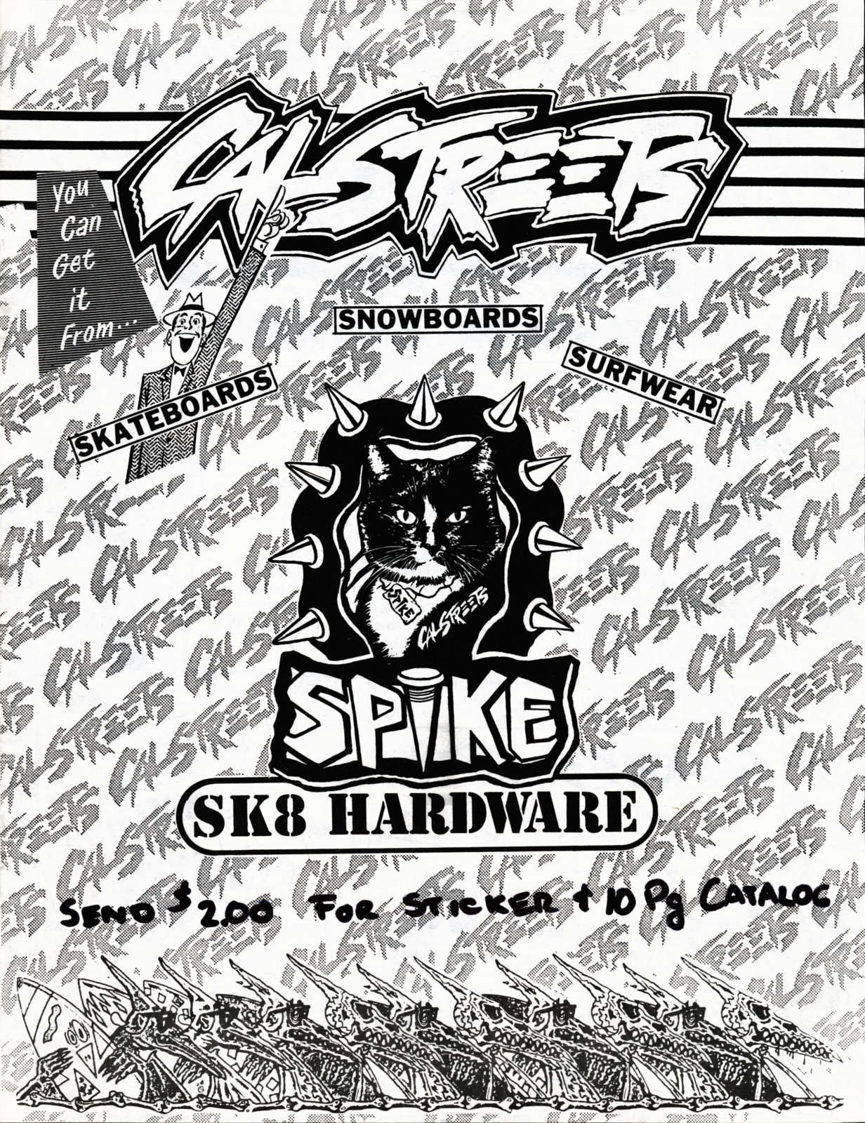 CalStreets 92 Lonsdale the ultimate skateshop of the 89's.